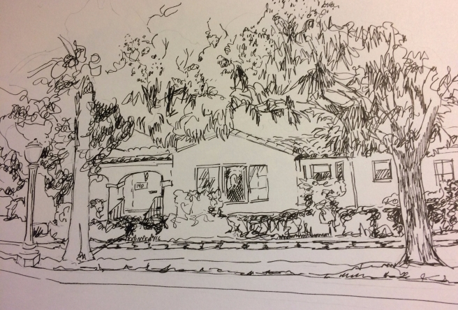 sketch of mom's house