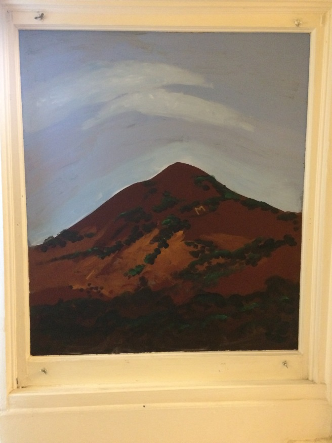 Madonna Mountain on glass