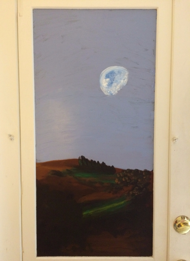 Moon on the back door