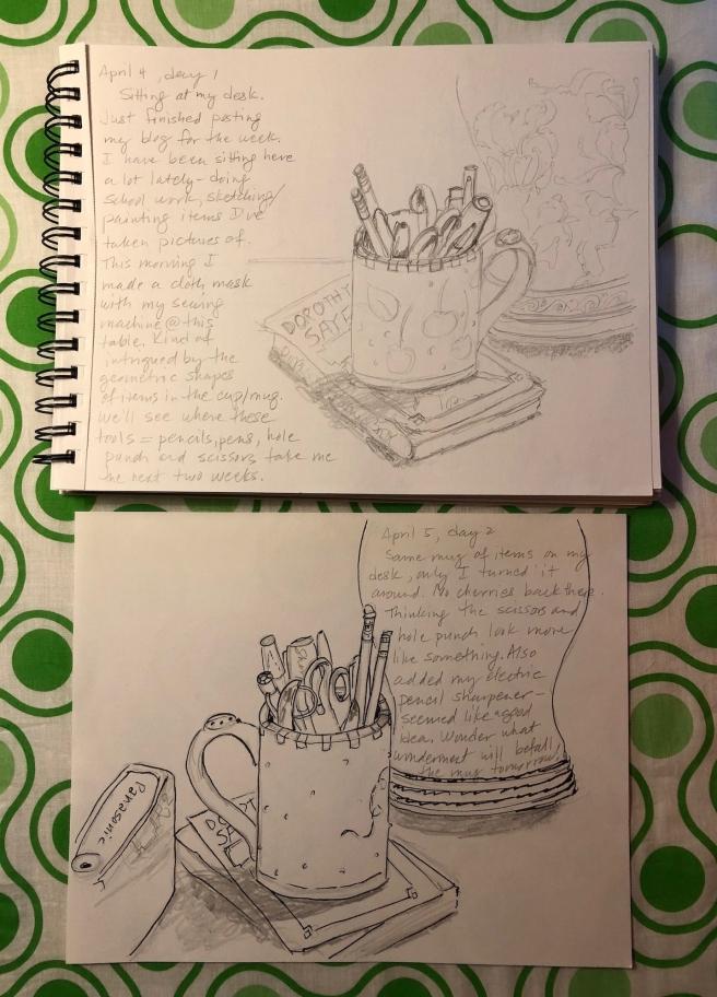 mug, day 1 and 2