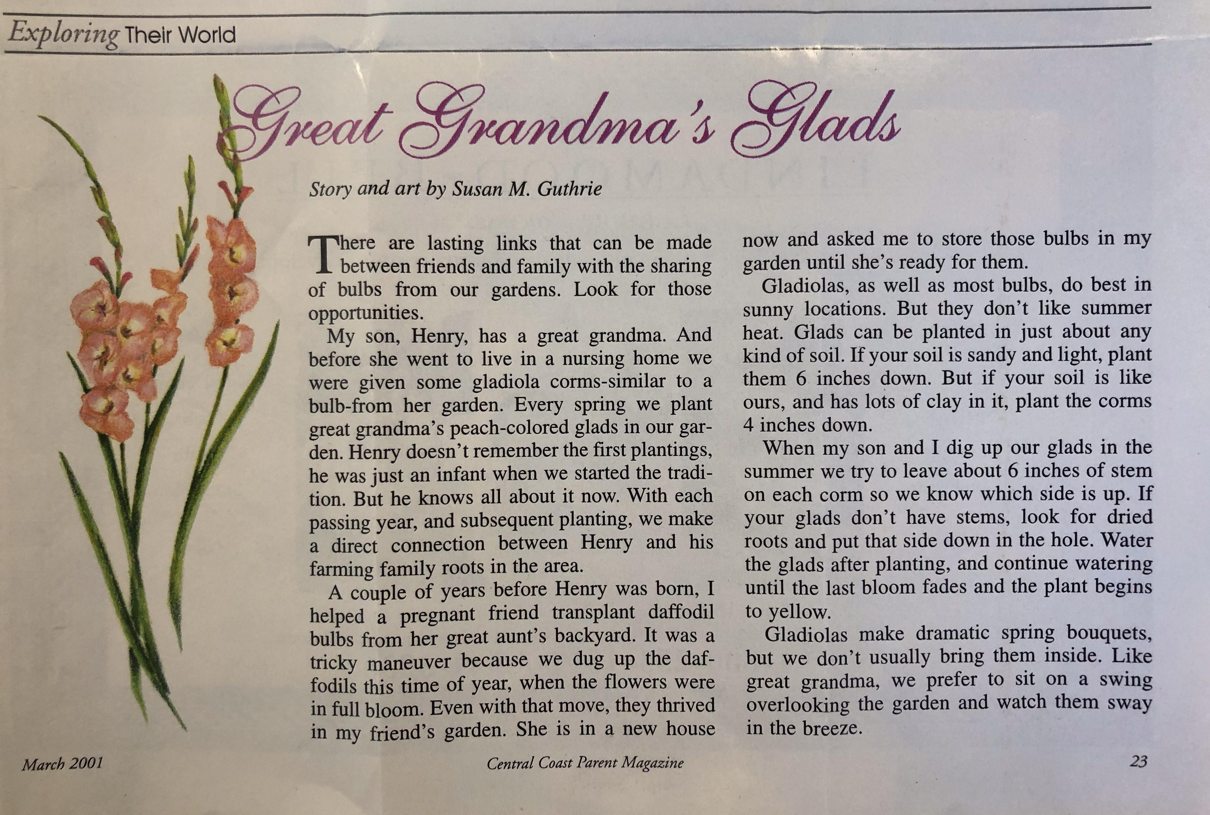 gladiola story